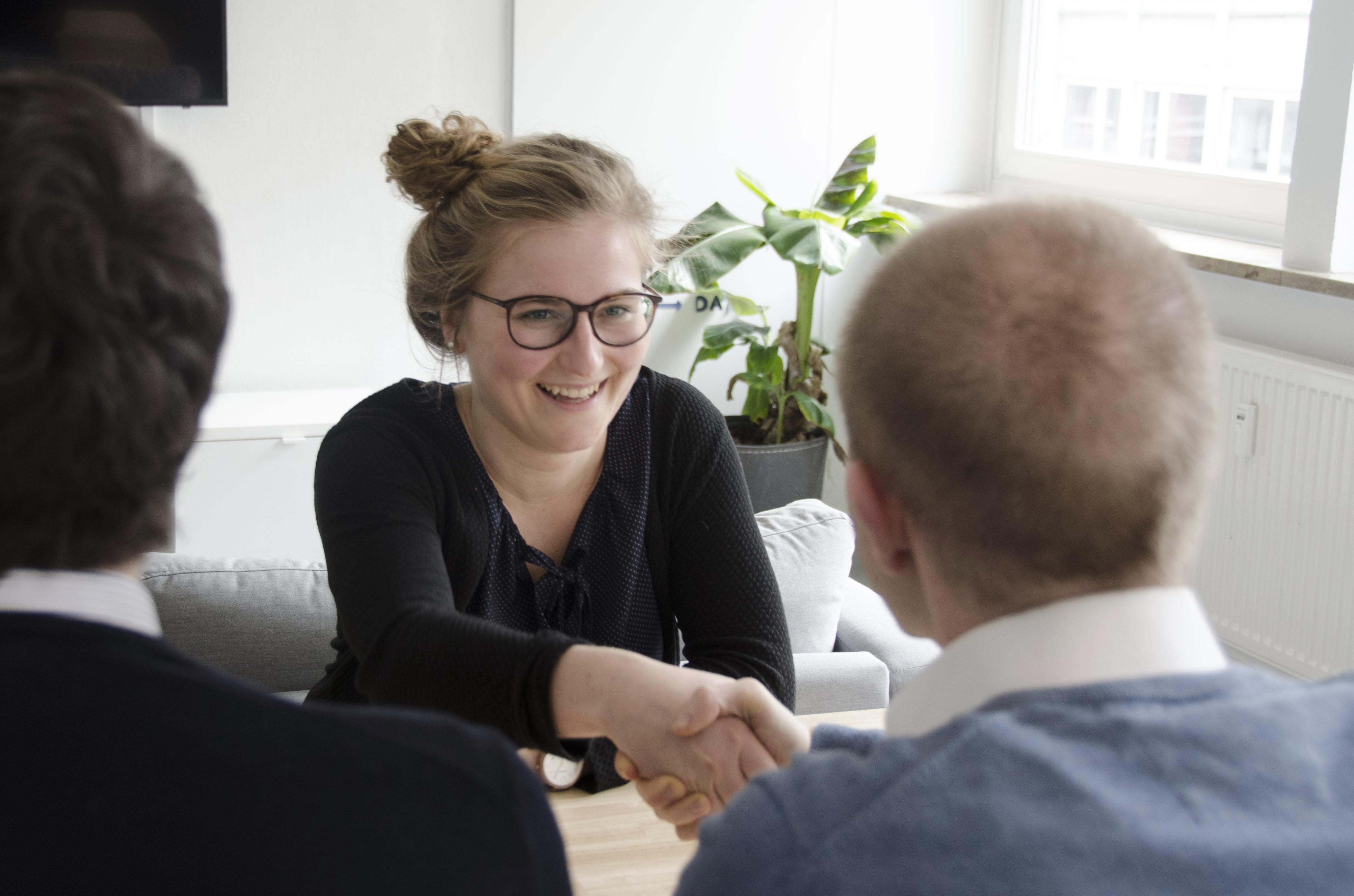 Bewerbungsgespräch in einem Startup
